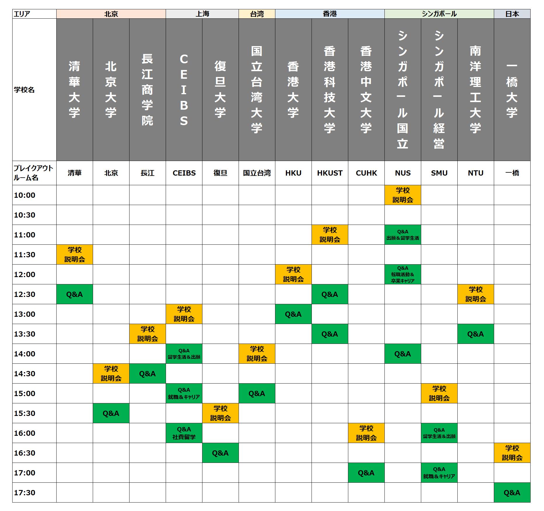 アジアMBA夏祭り2021_0815_タイムスケジュール